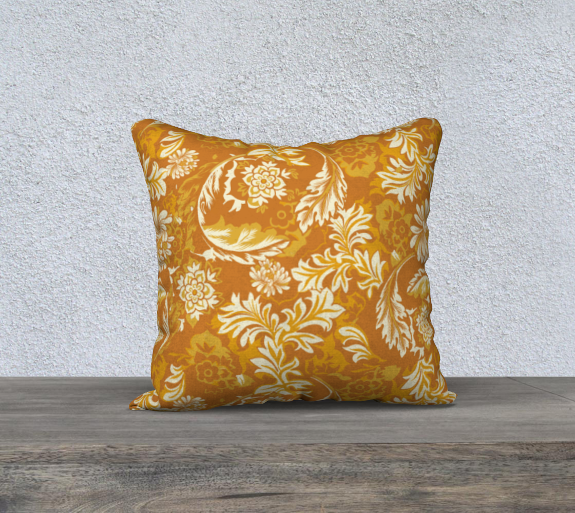 Turmeric William Morris inspired pattern 18x18 preview