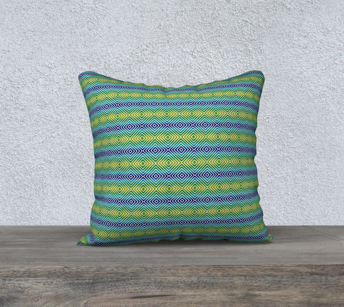 Abstract Squares Pattern Pillow preview