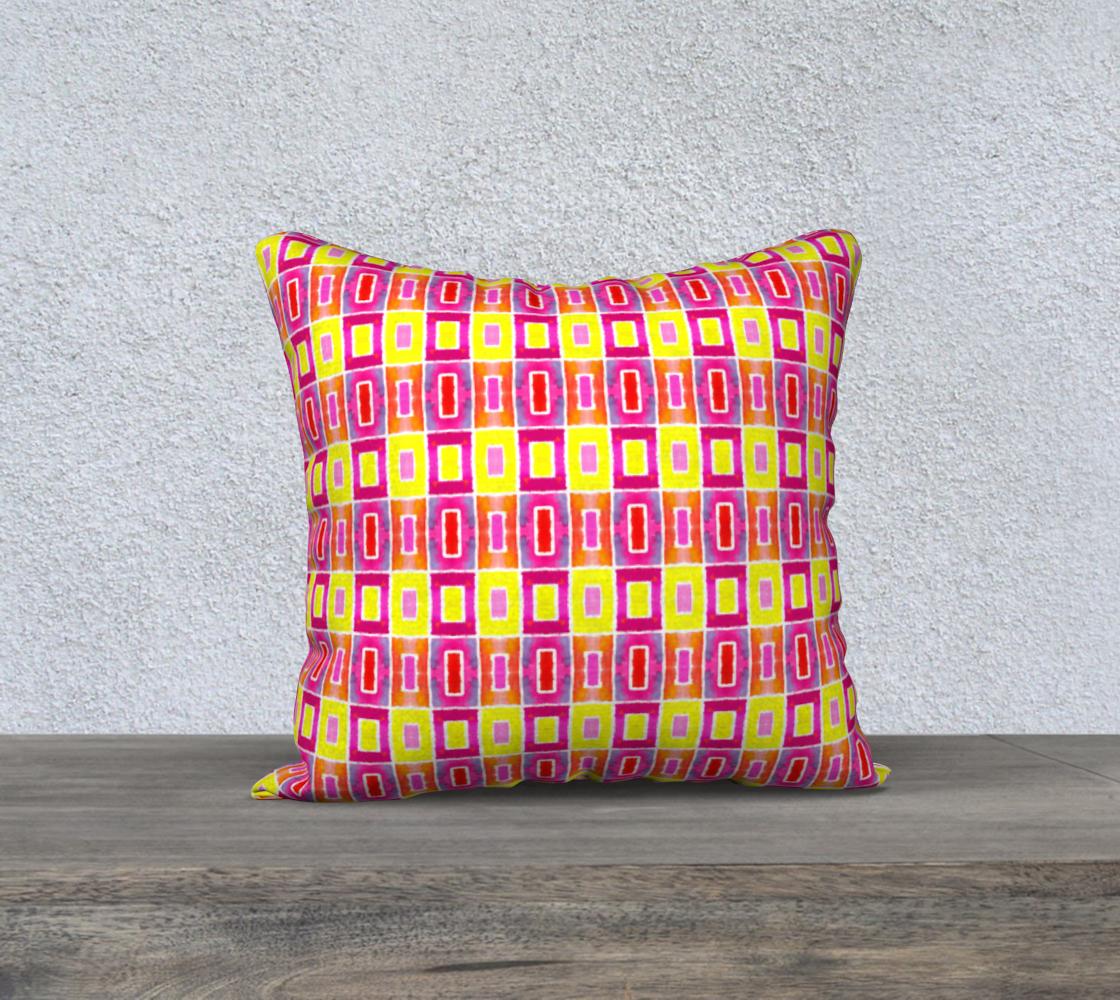 Geometric Squares Pattern Pillow Case preview