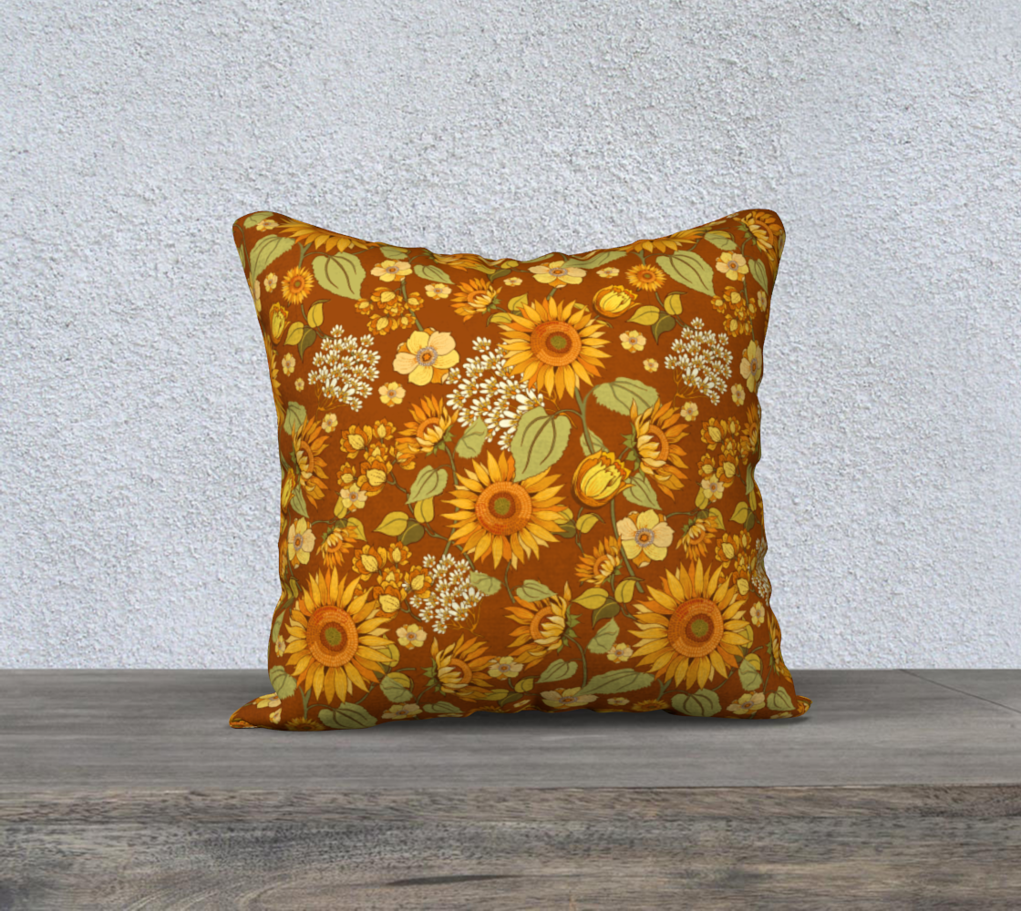 70s Sunflower Vintage 18x18 preview