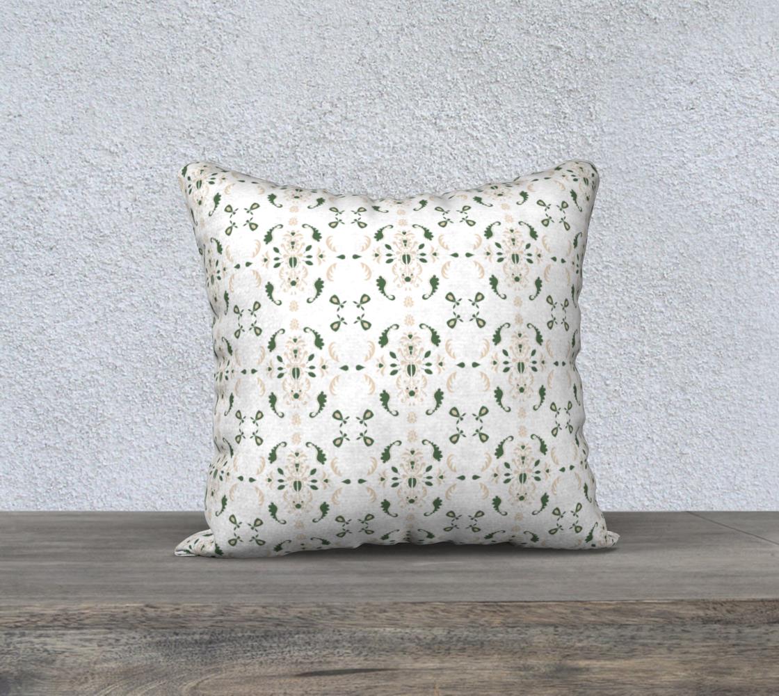 Aperçu de green and cream cover 18x18