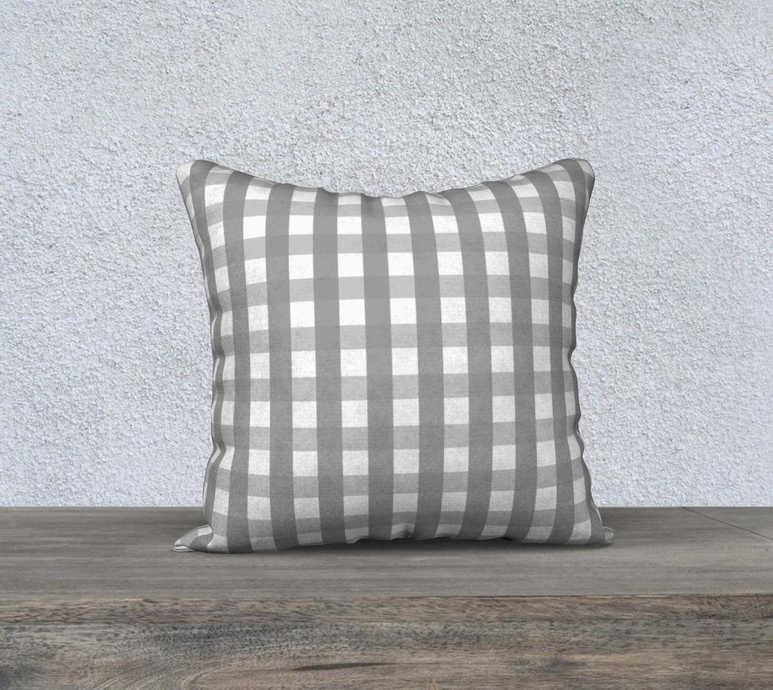 Aperçu de gray plaid 18x18 cover