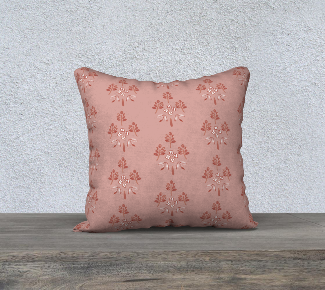 Aperçu de rose pink motif cover 18x18