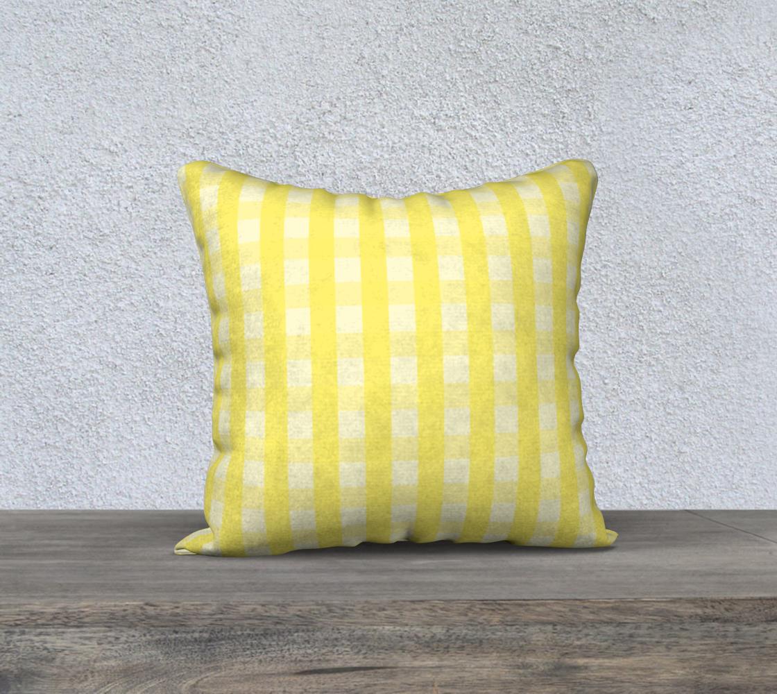 Aperçu de yellow plaid 18x18 cover #1