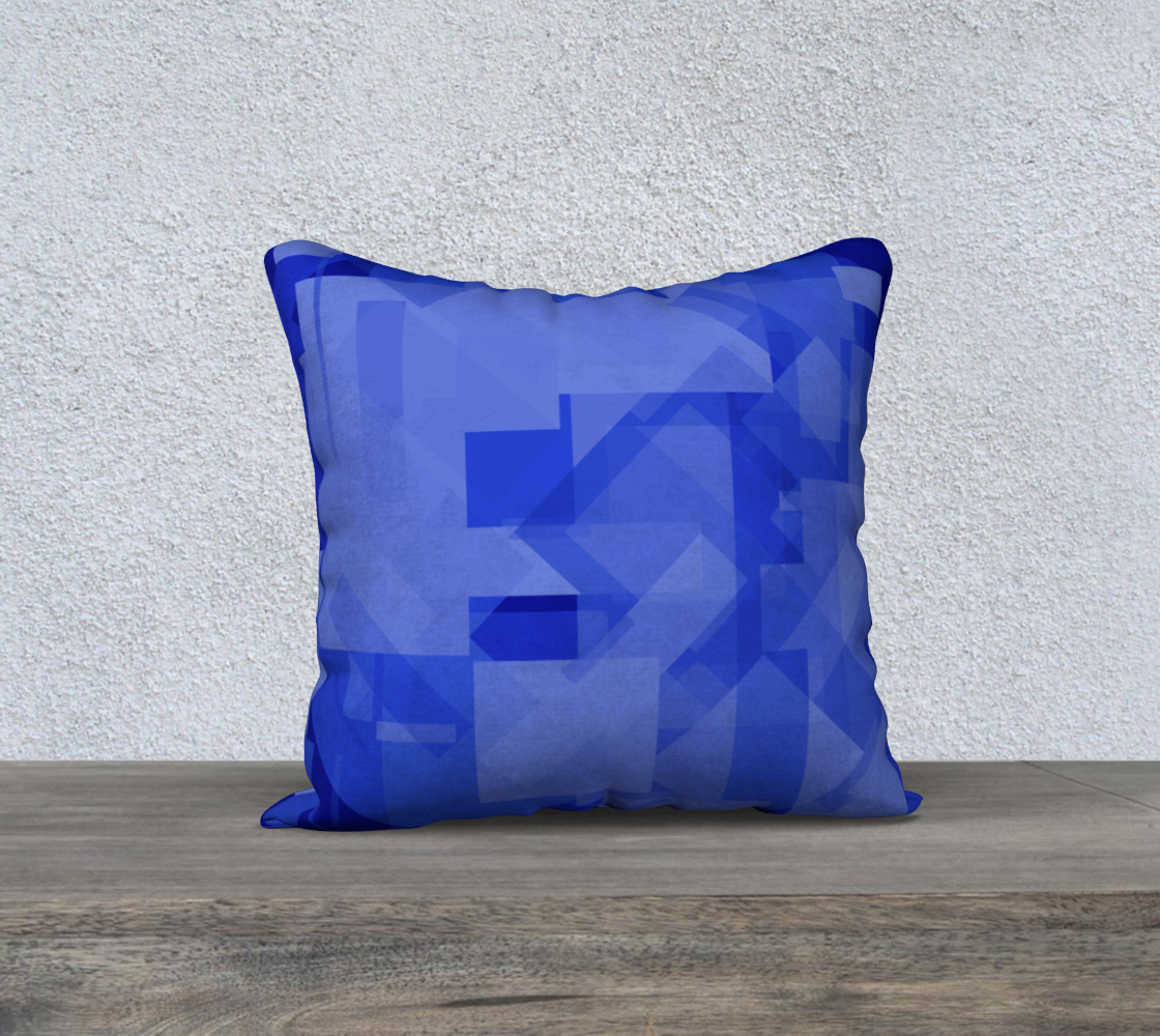 Blue is Better 18x18 Pillow Case preview #2