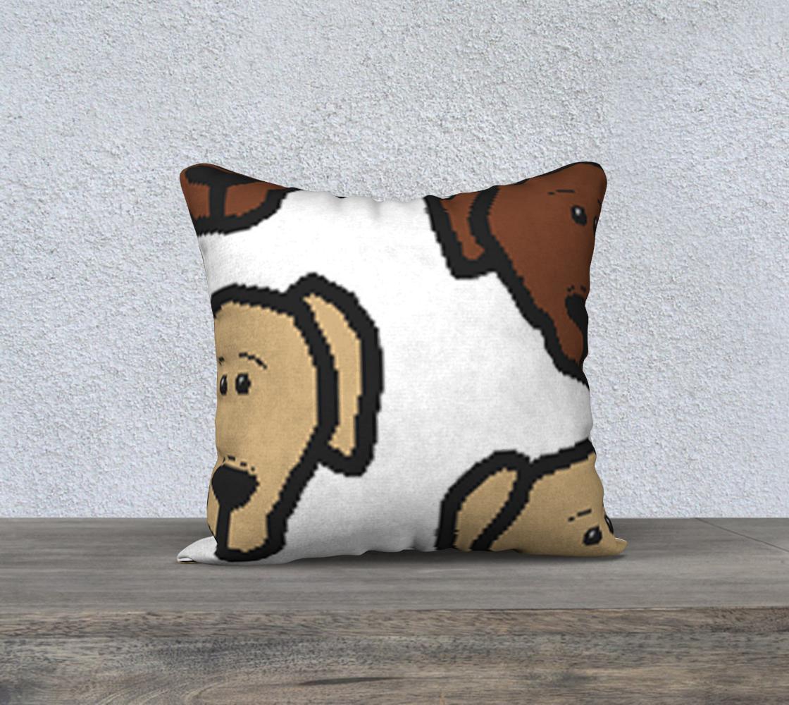Labrador Retriever all 3 colors cartoon heads 18 x 18 pillow case preview