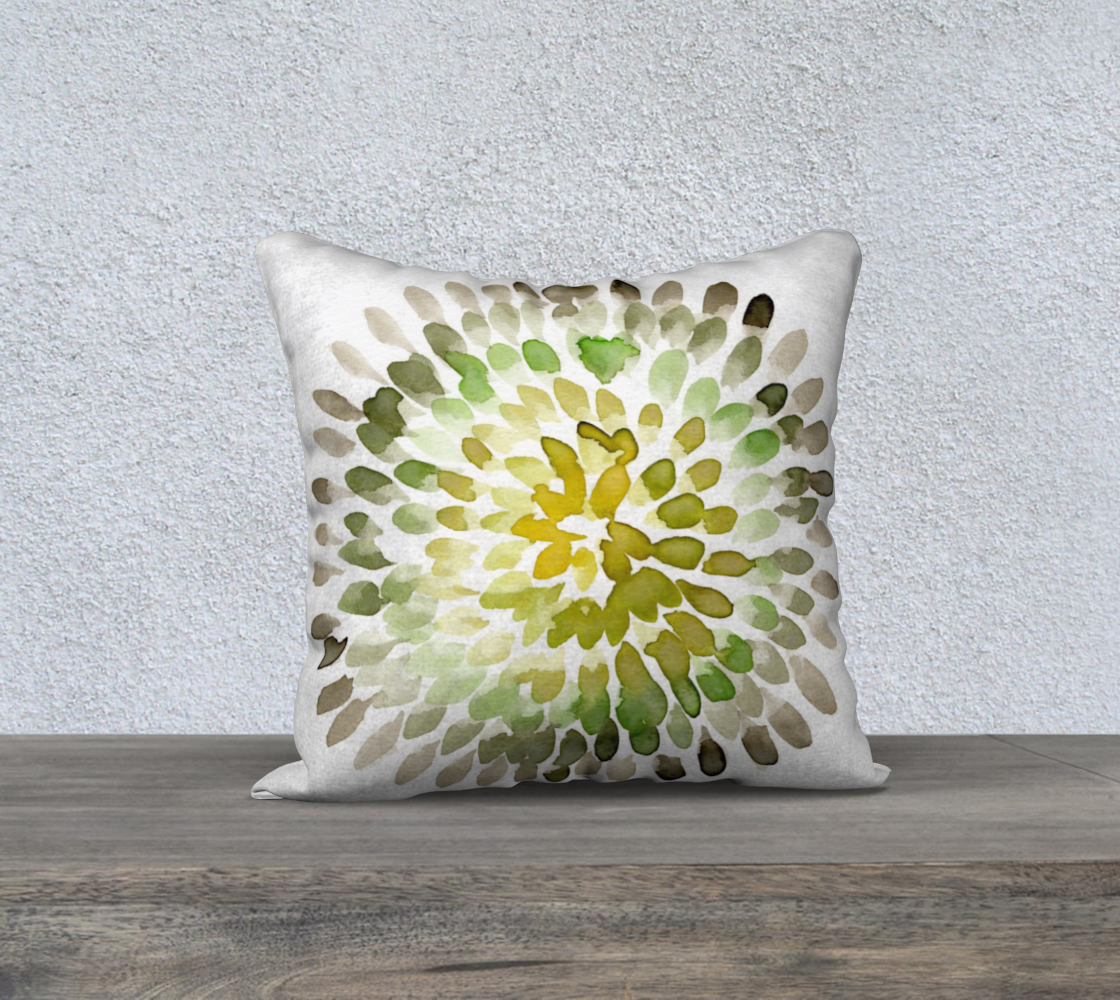 green brown pillow cover circular pattern preview