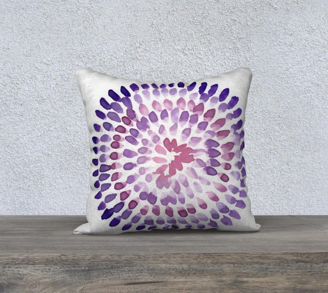 purple pink circular pattern pillow case preview