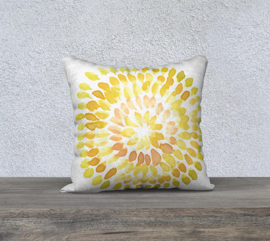 yellow circular pillow pattern  preview