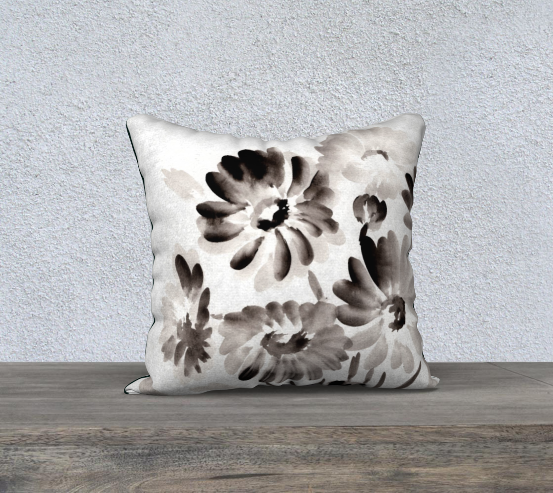 black daisy pillow preview