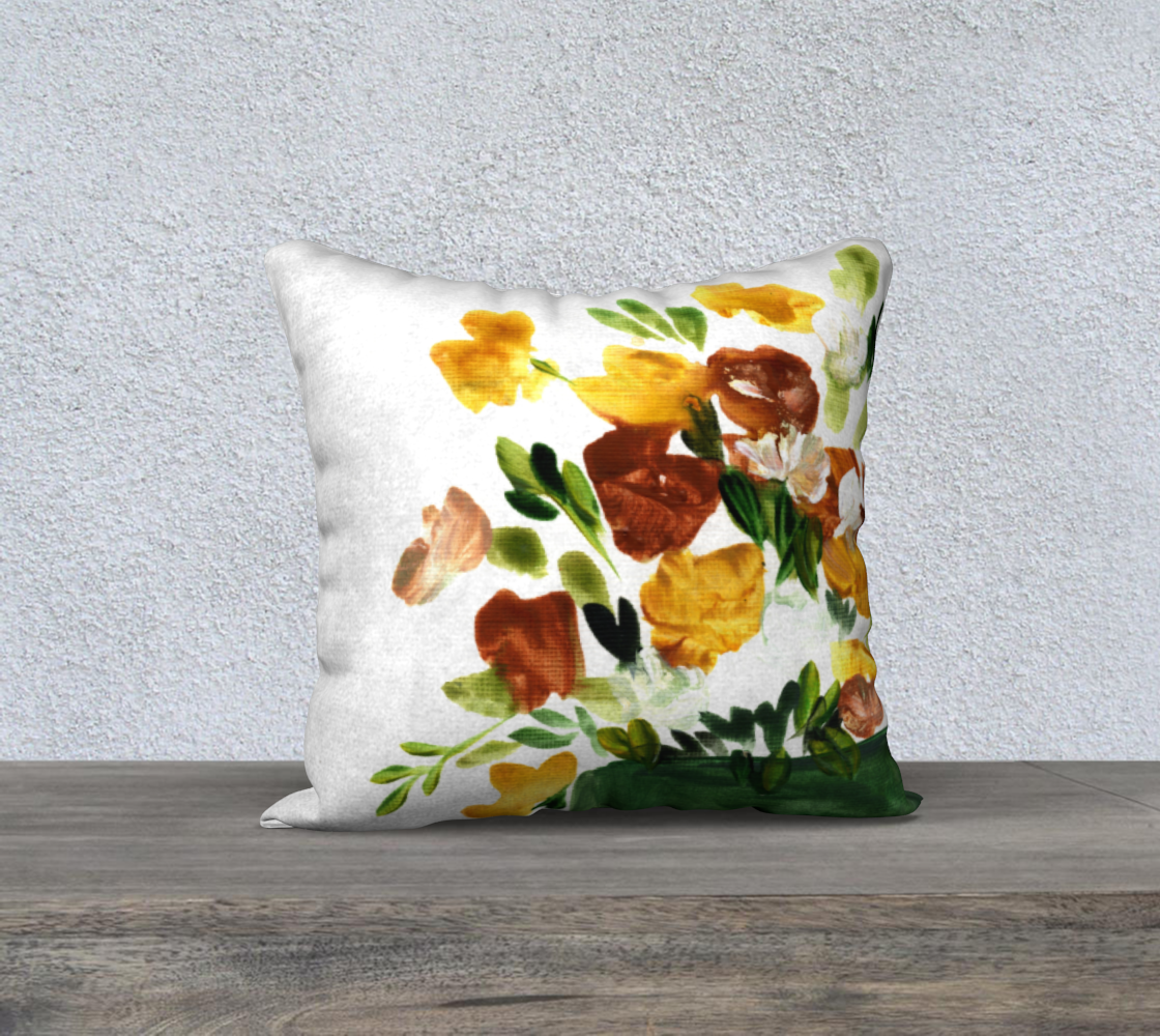 red yellow plant pillow preview