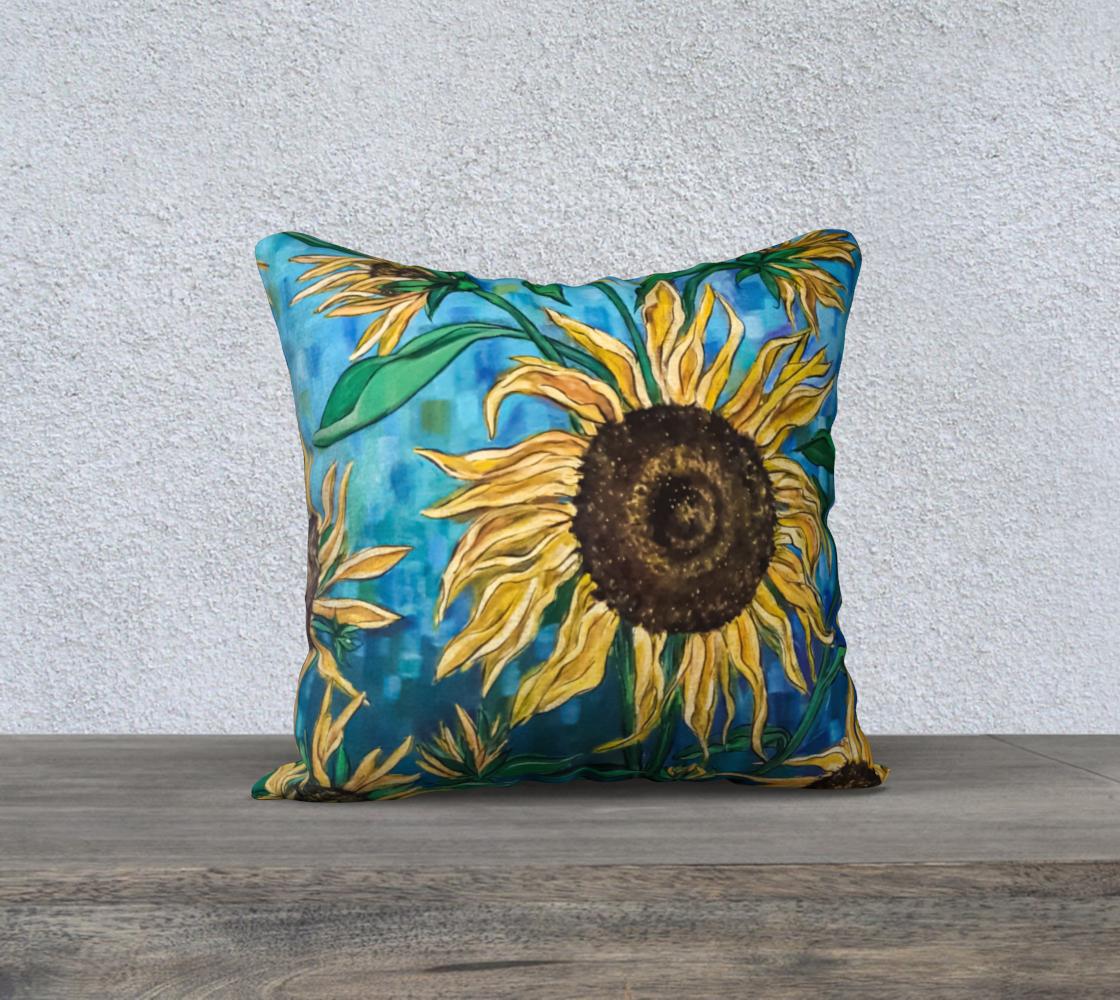 Aperçu de Summer Sunflowers 18 x 18 Pillow Case