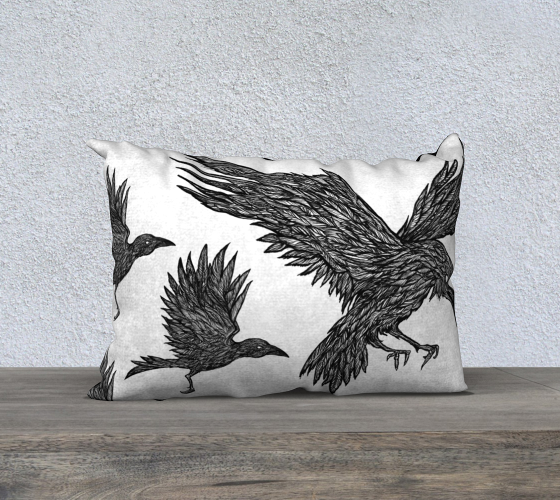 Ravens Landing 20x14 Pillow Case White preview