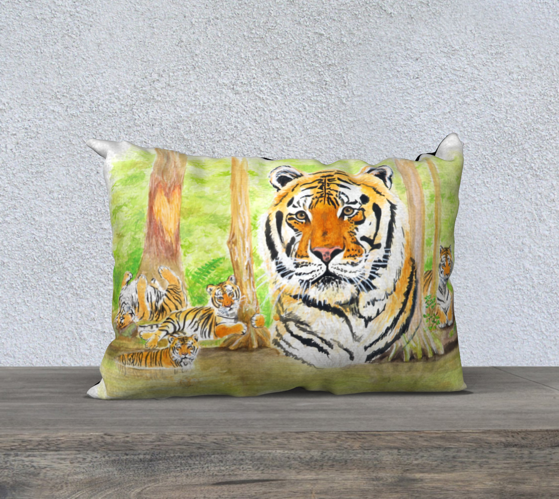 Aperçu de Seth Tiger Pillow