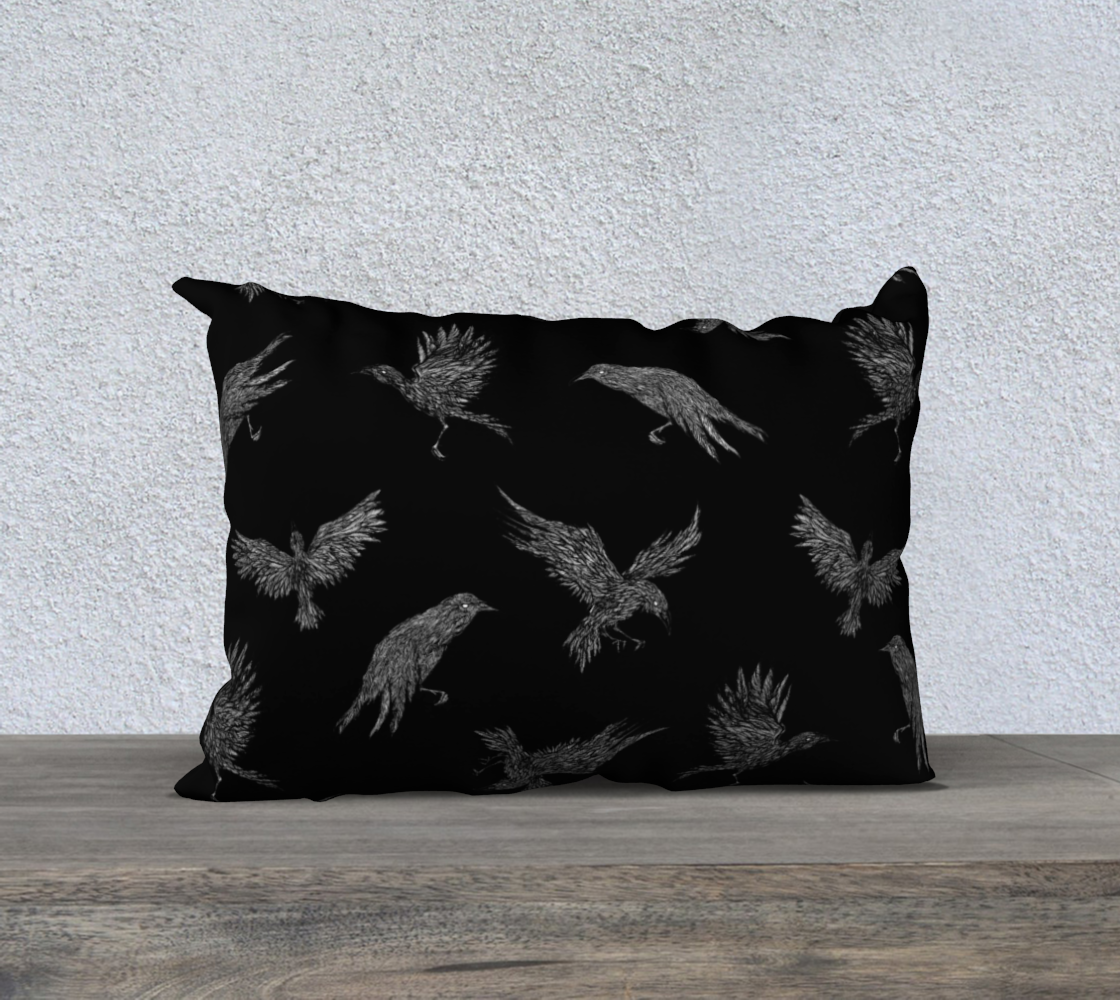 Mixed Ravens 20x14 Pillow Case preview