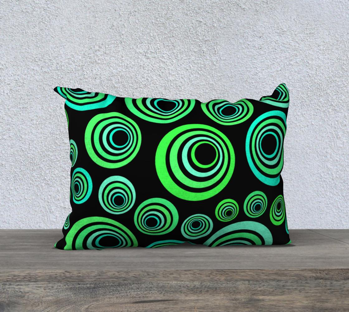 Aperçu de Groovy 60's Neon Green and Blue on Black