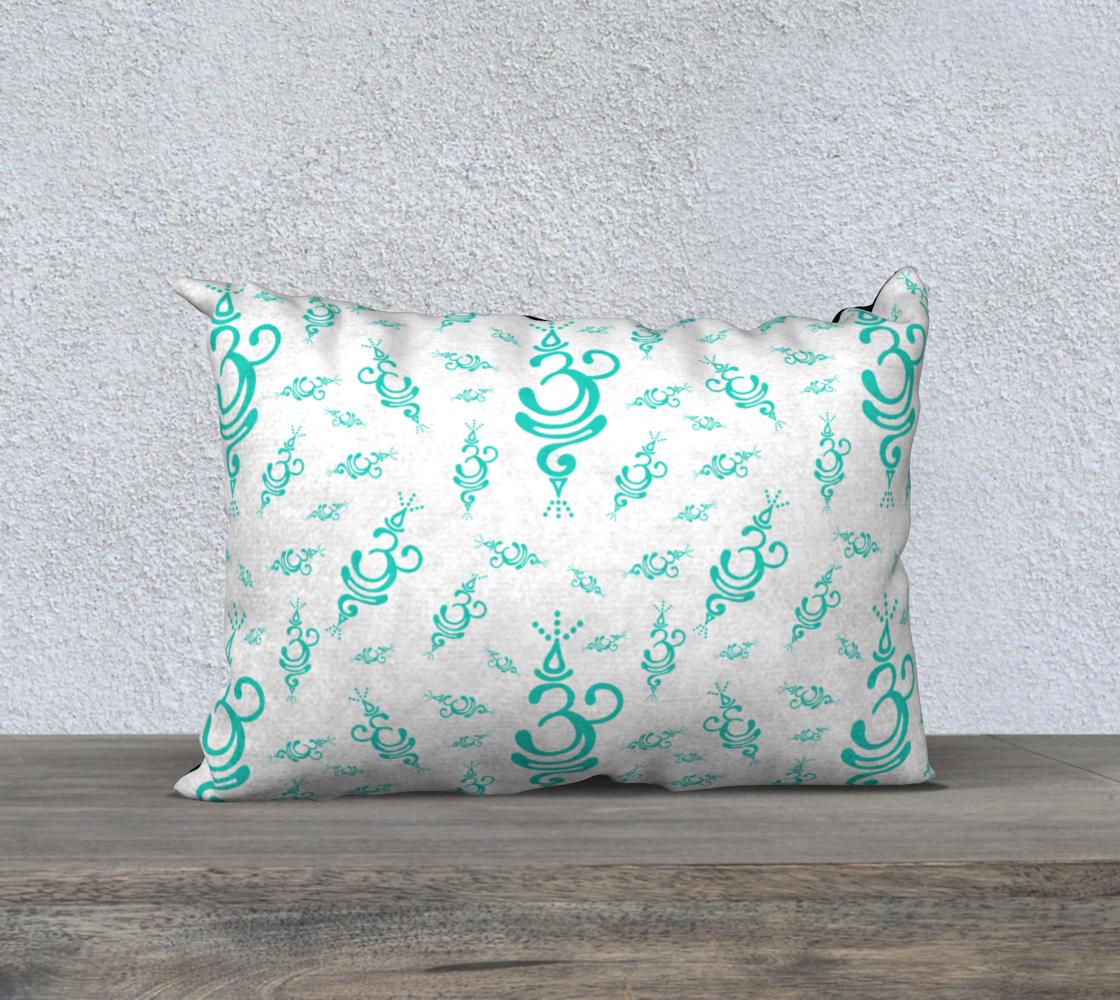 Aperçu de Breathe Teal Cancer Zip Pillow