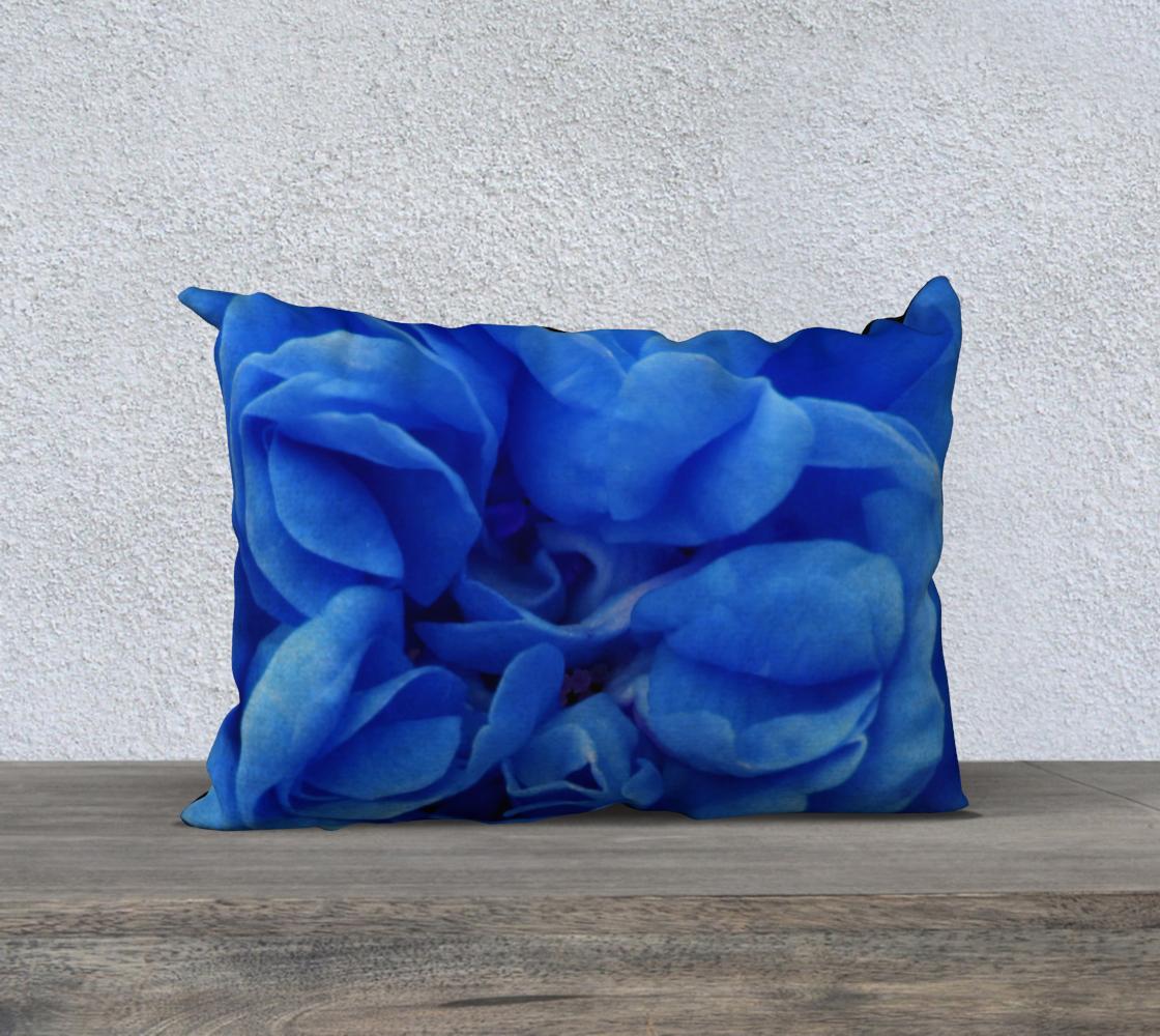 Aperçu de Blue Rose Pillow 20X14 160626a