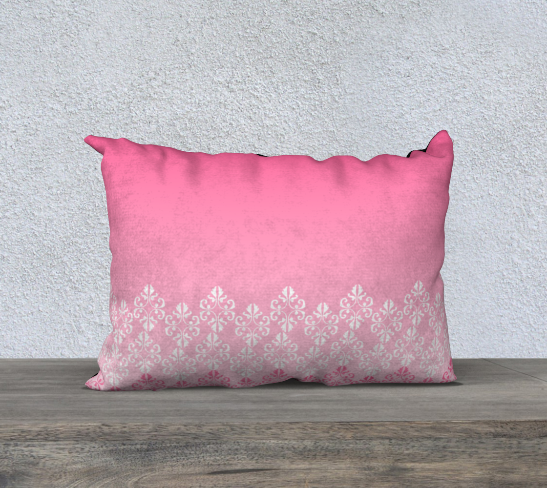 Pink Ombre Damask Pattern Pillow Case 20 preview