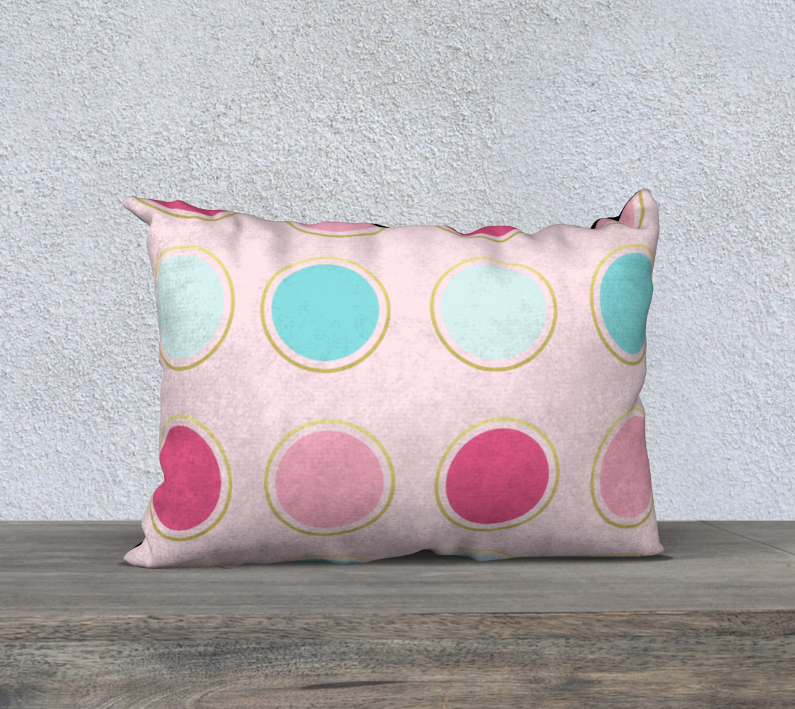 Pink and Teal Polka Dot Pillow Case 20 preview