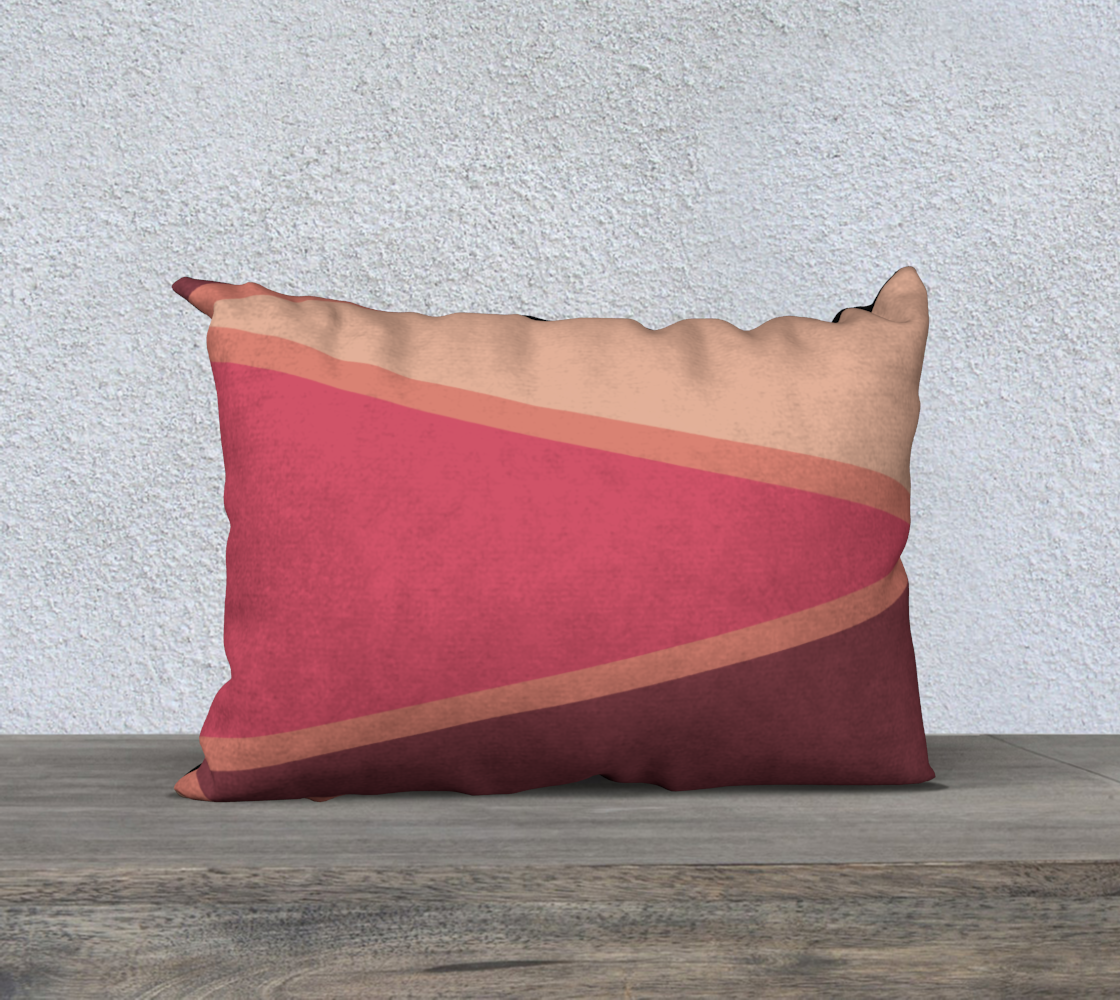 "Romantic Blush Triangle Pattern Pillow Case 20"" x 14"" preview"