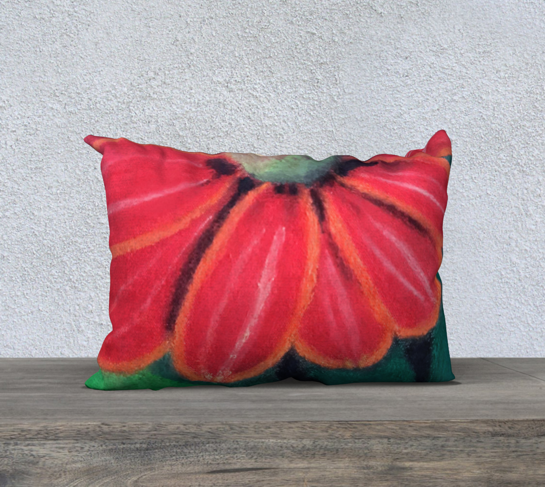 Red Sunflower Pillow case 20 x 14 preview