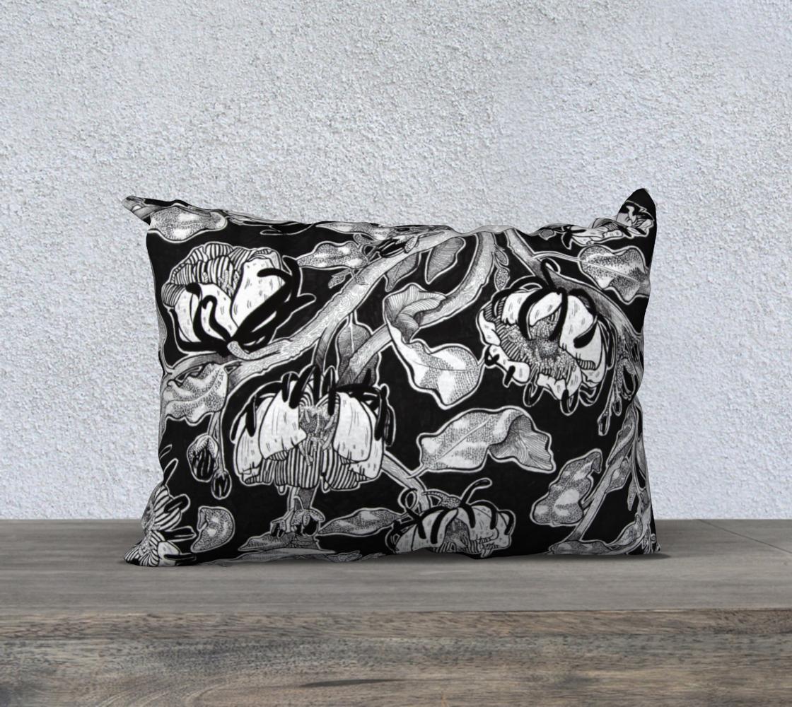 Black Floral Pillowcase  preview