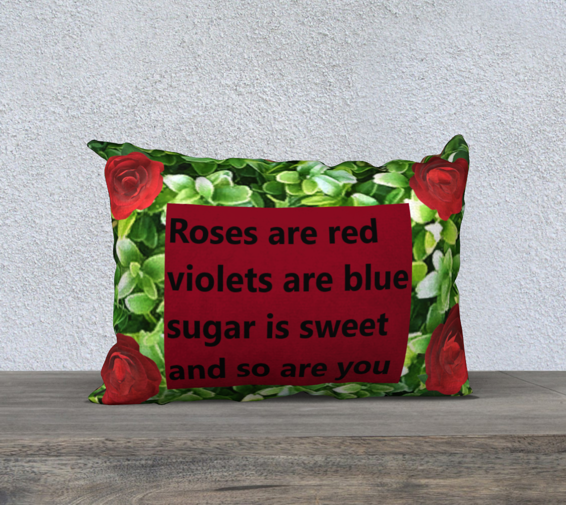 rose poem pillow preview