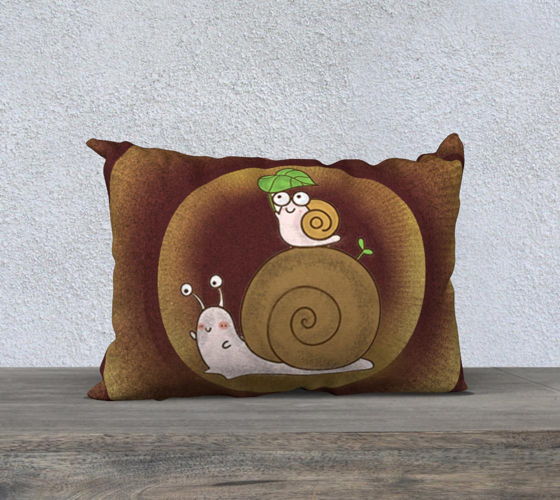 Aperçu de Snails throw an abstract wood texture  #1