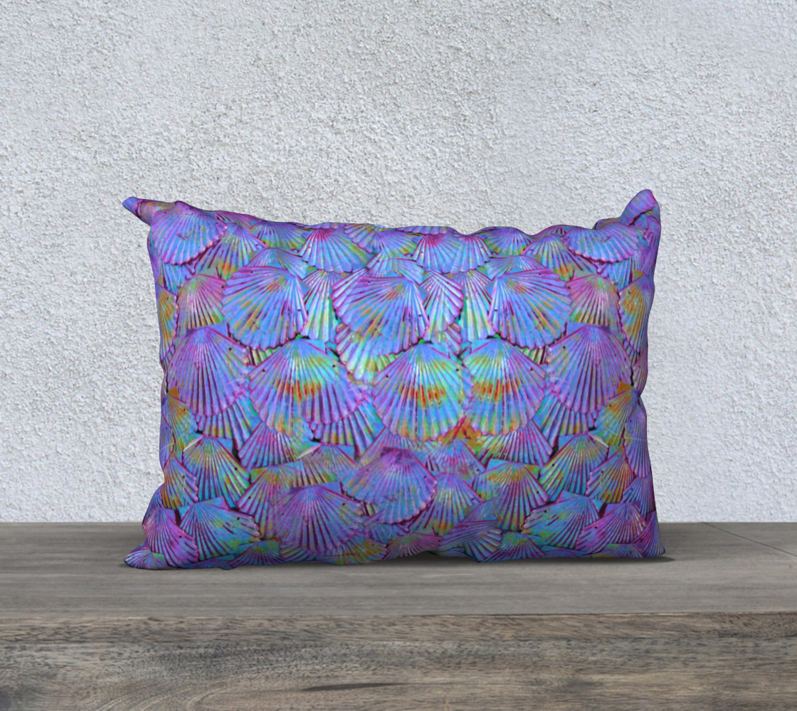 Purple Mermaid Scale Pillow Case preview