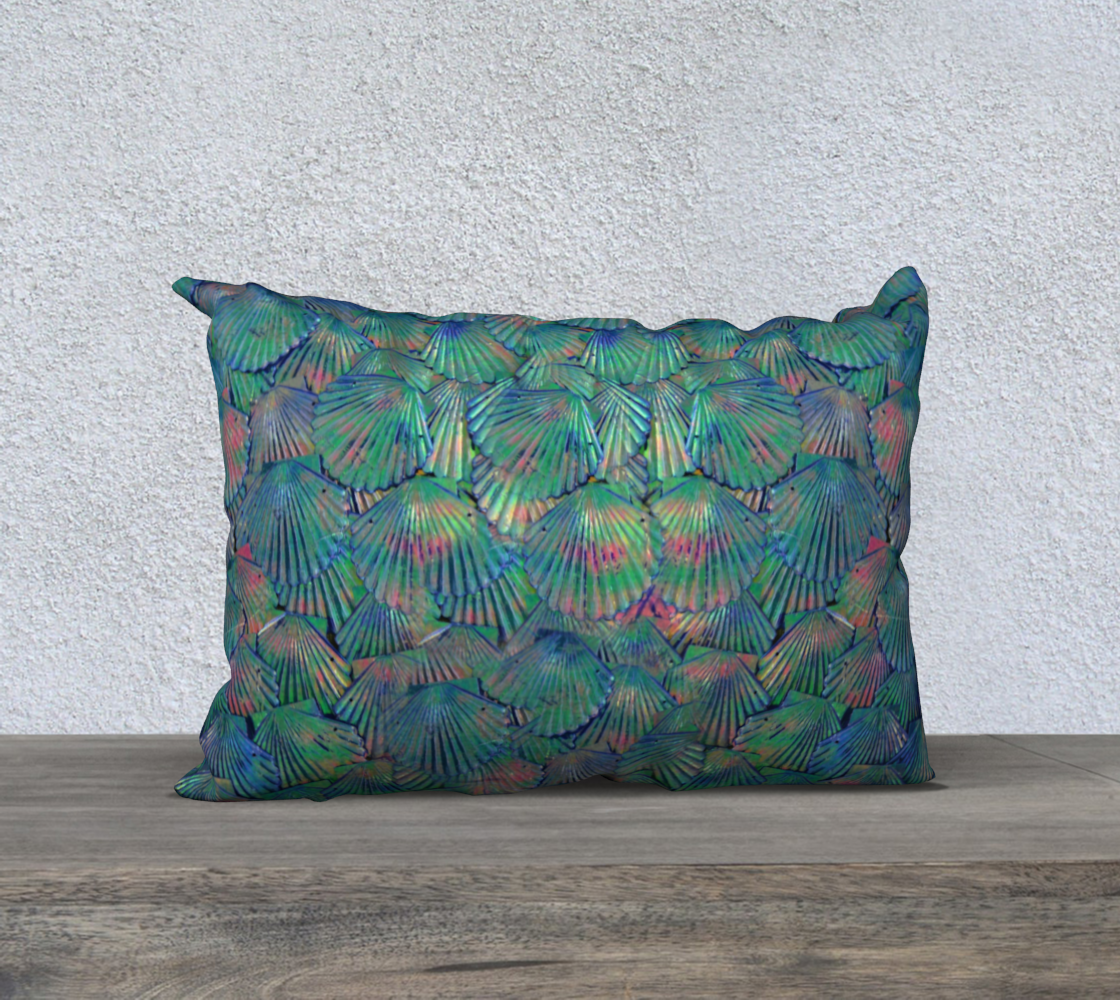 Shimmery Mermaid Scale Pillow Case  preview #2
