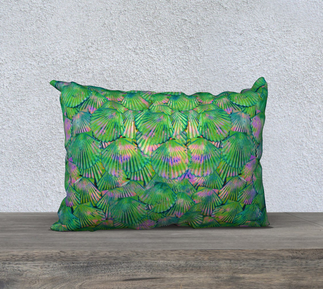 Green Shimmer Mermaid Scale Pillow Case preview #2