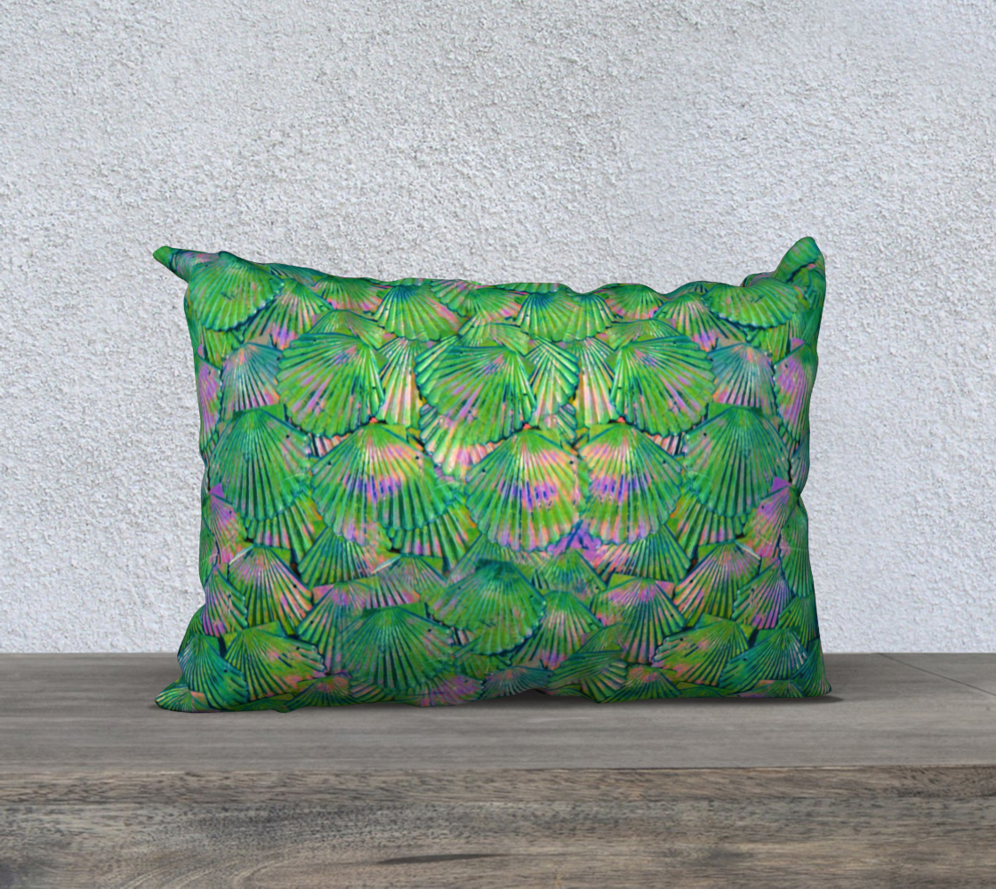 Green Shimmer Mermaid Scale Pillow Case preview