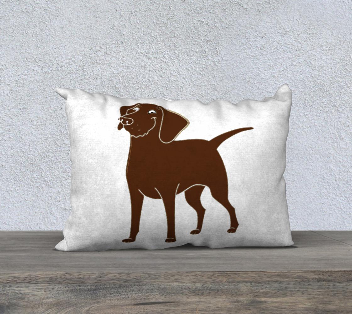Labrador Retriever chocolate cartoon 20 x 14 pillow case preview #1