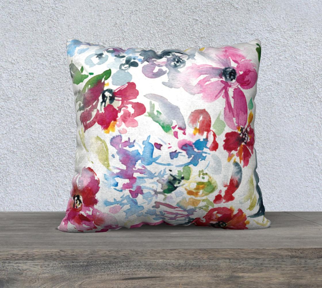 Aperçu de Spring Floral Pillow  A  22x22