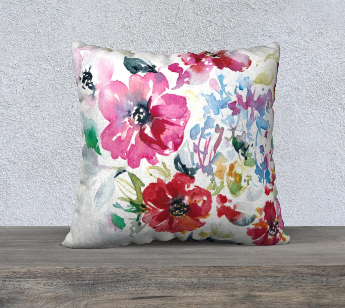 Aperçu de Spring Floral Pillow B 22x22