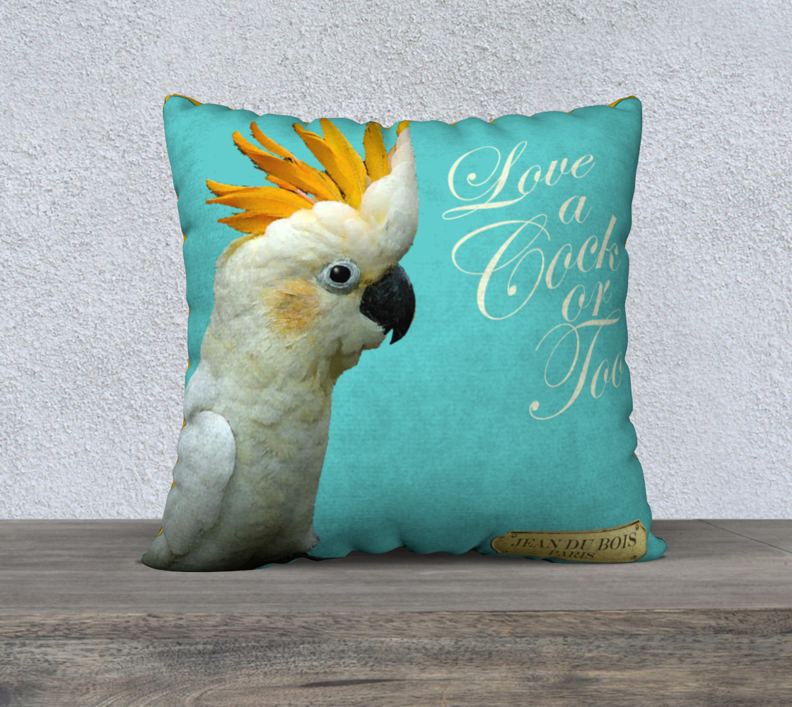 Cock-a-Too Pillow preview