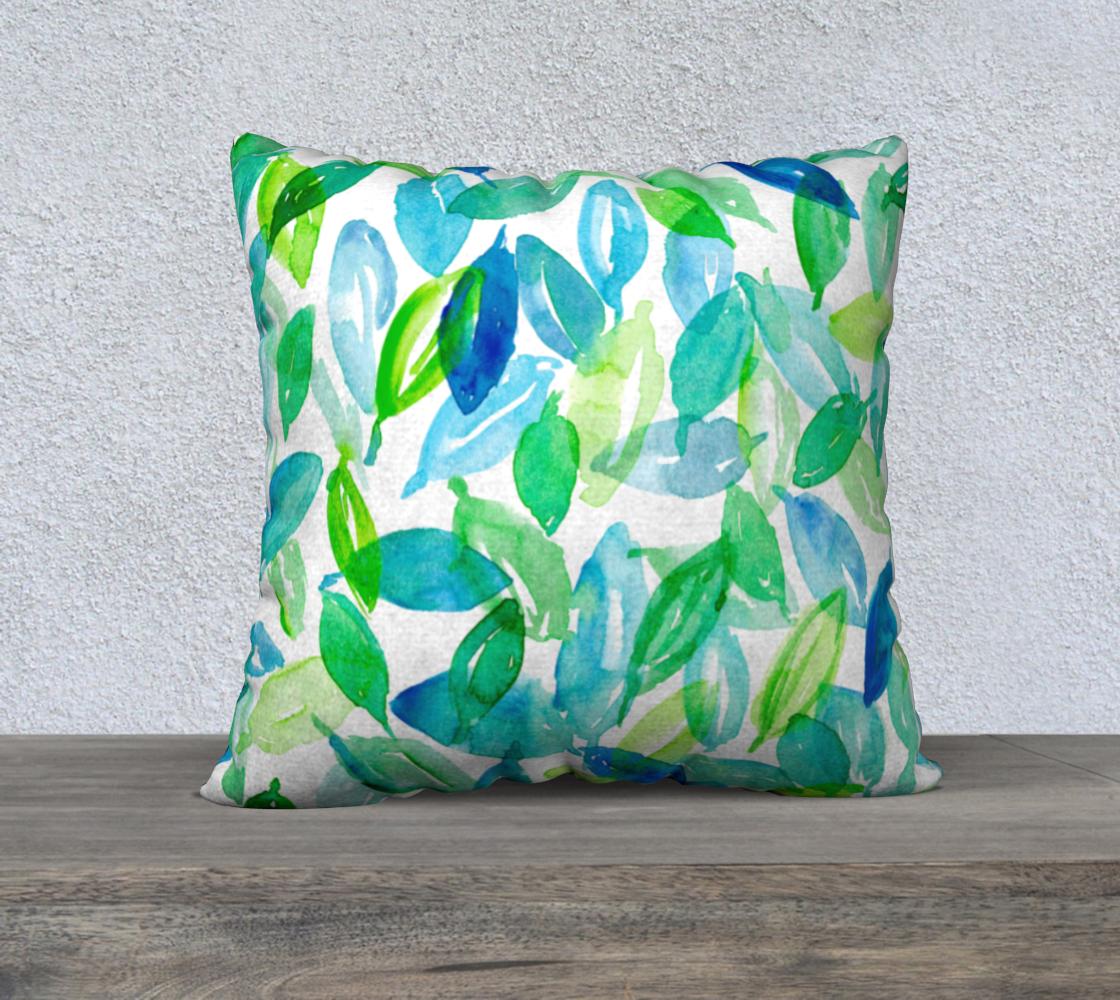 Aperçu de Falling Leaves in blue and green 22x22 cover
