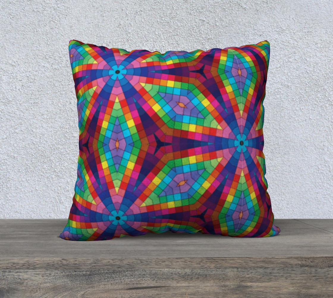 Aperçu de Rainbow Kaleidoscope Square Pillow Case