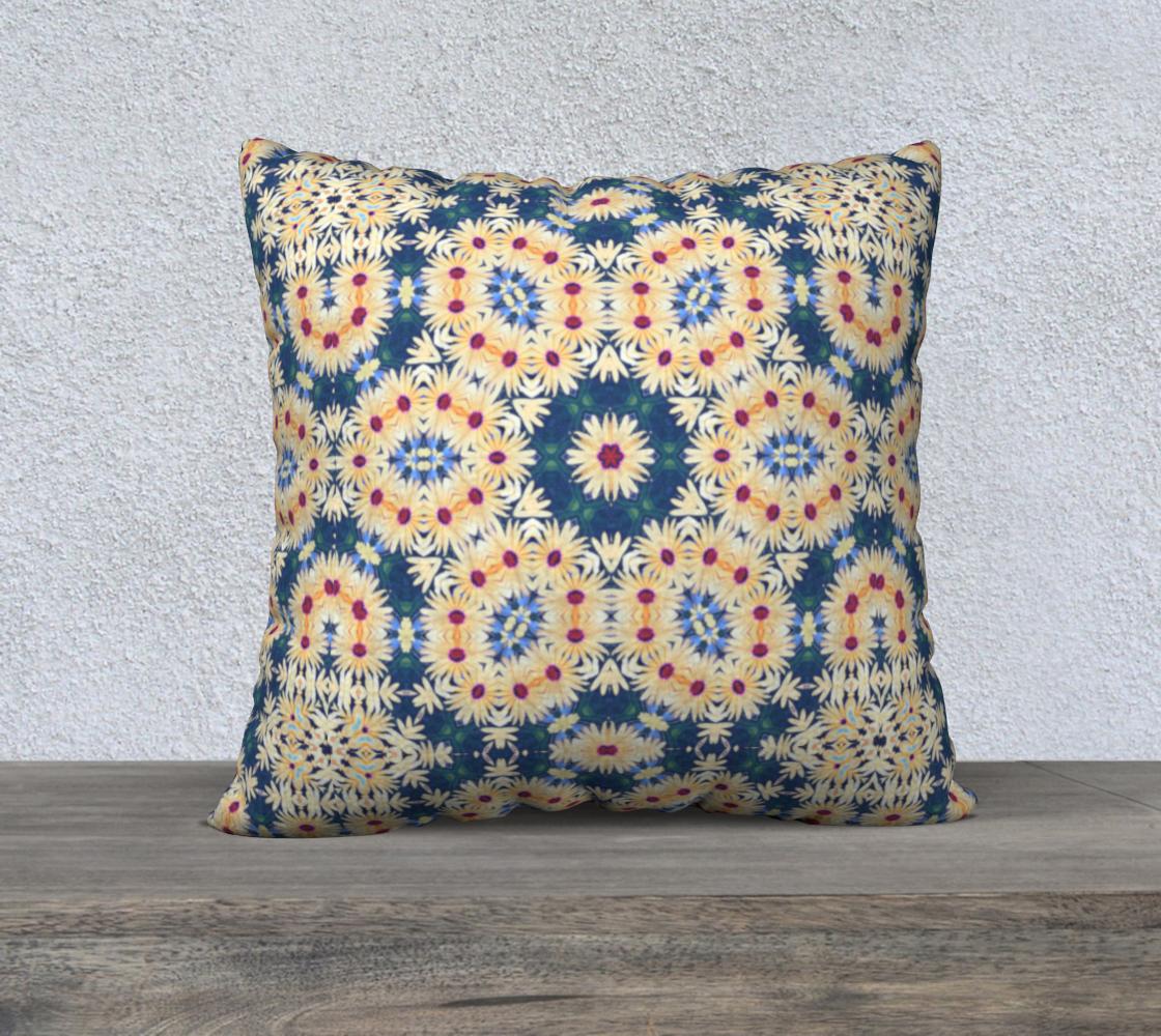 Aperçu de Kaleidoscope Daisy Floral Square Pillow Case