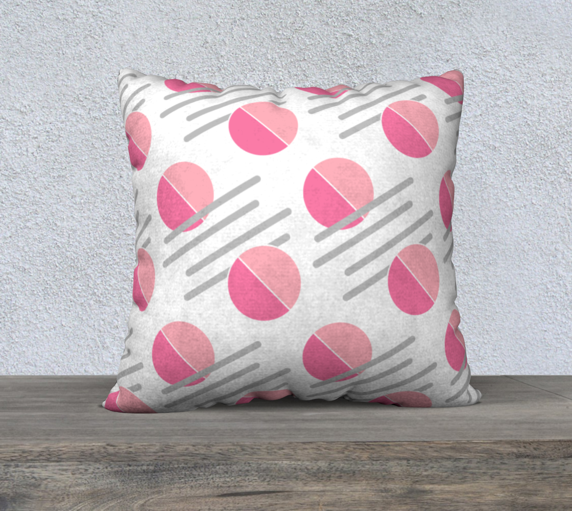 Pink and Grey Shape Abstract Pattern Pillow Case 22 preview