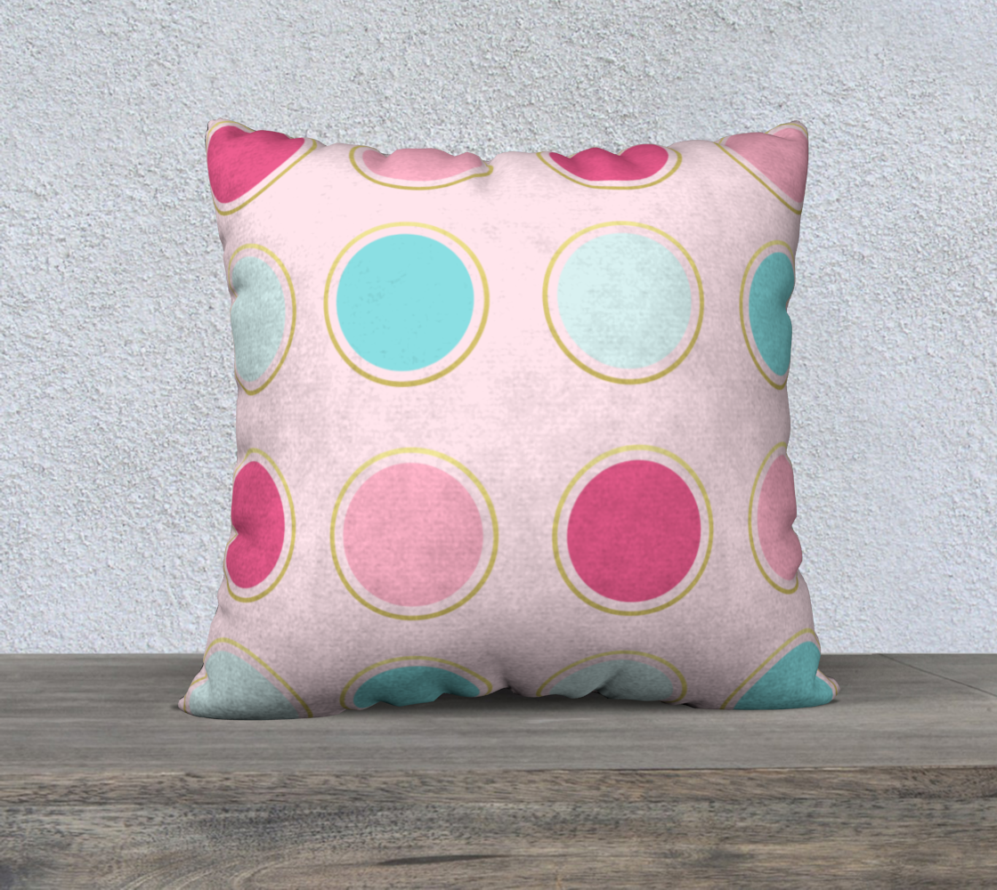 Pink and Teal Polka Dot Pillow Case 22 preview