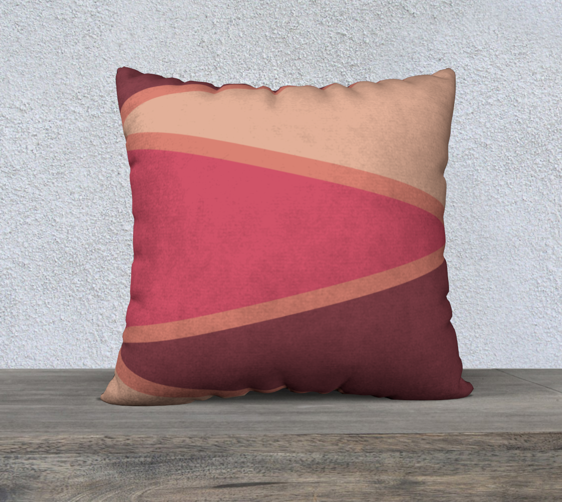"Romantic Blush Triangle Pattern Pillow Case 22"" x 22"" preview"