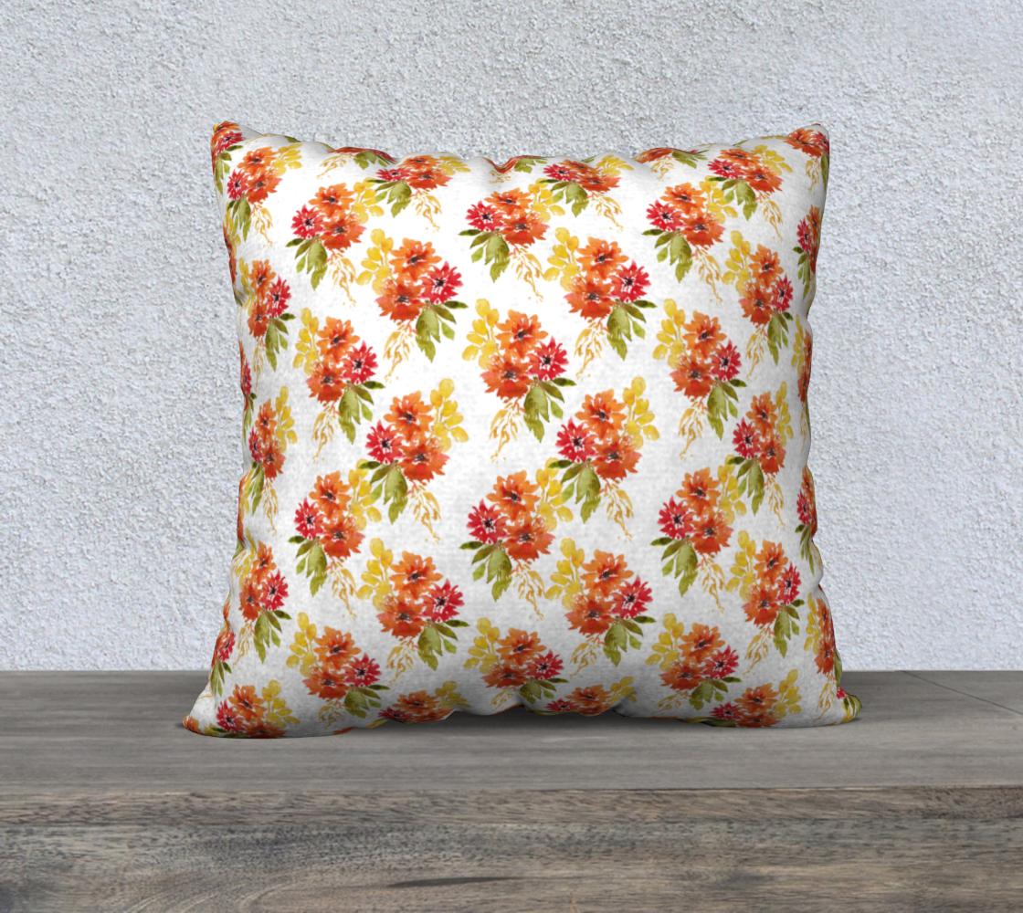 Aperçu de Dahlia Fall Floral Pillow Cover