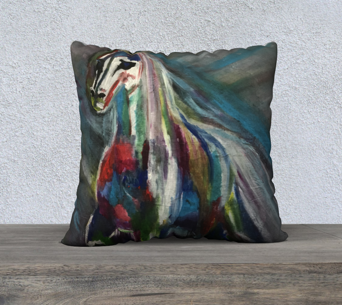 Mystical horse cushion preview