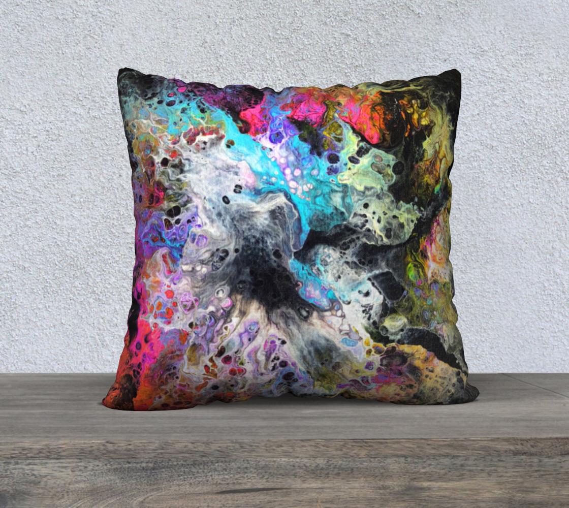 Aperçu de Rainbow Flow 22x22 Pillow
