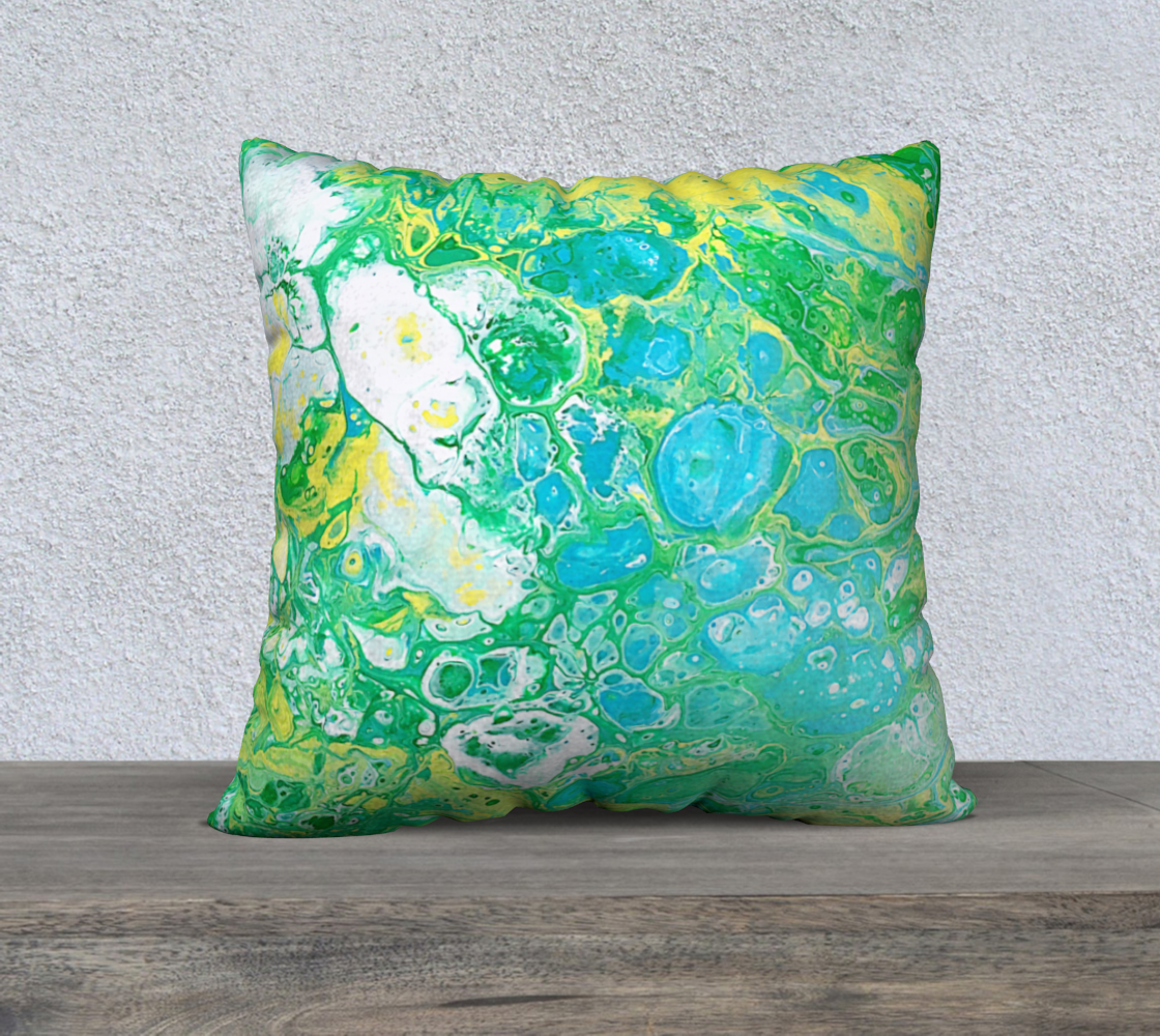 Turquoise Cell Love Pillow preview