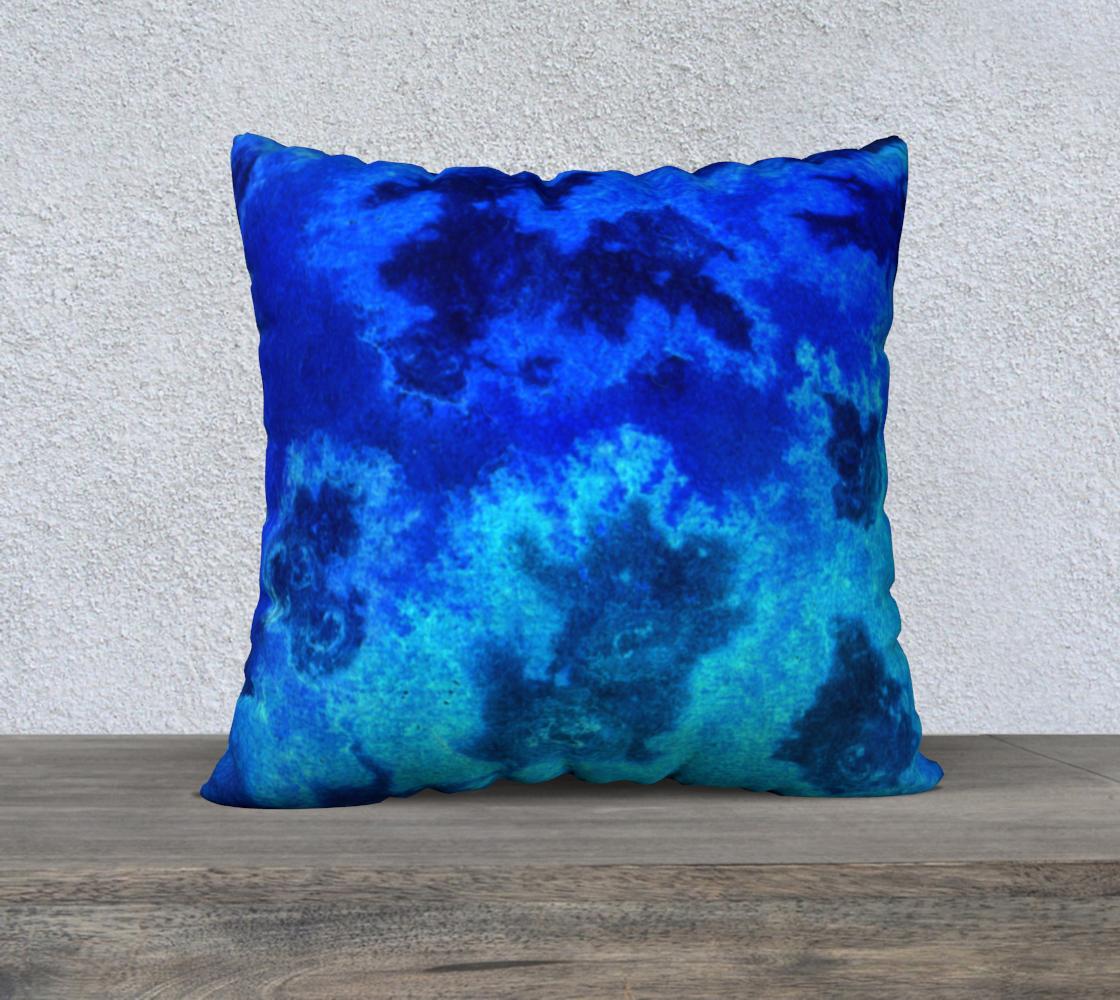 Blue Ocean Aerial 22x22 Pillow Case preview