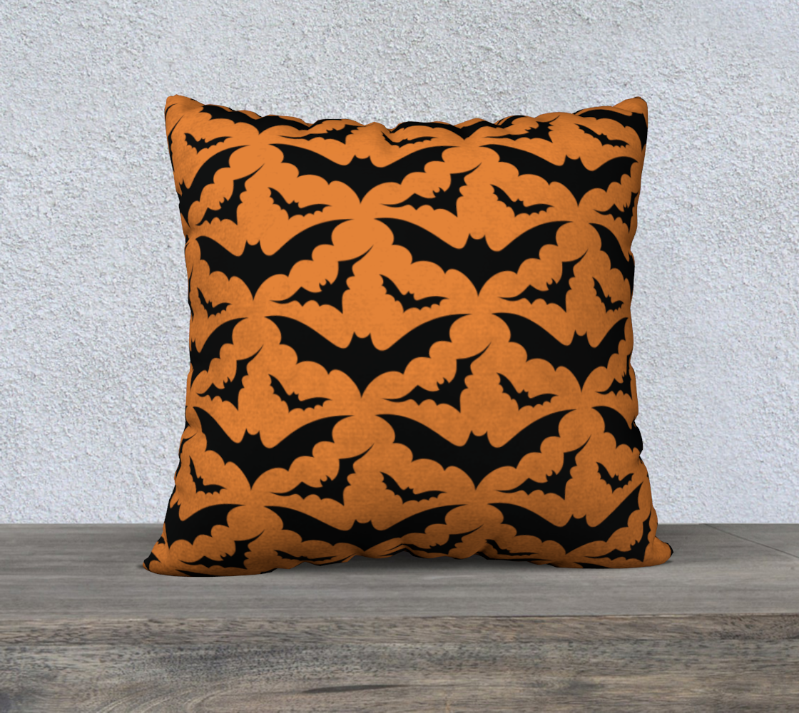 Orange Bats Pillow Case 22x22 preview