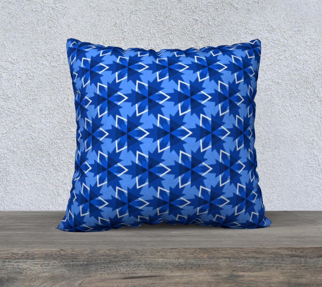 Aperçu de Blue Abstract Pattern Pillow